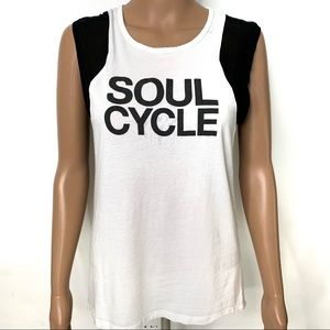 Soulcycle Black & White Workout Muscle Tank Top